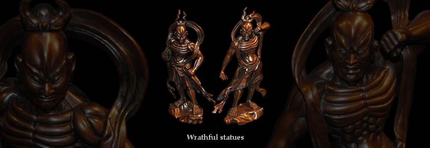 wrathful statues