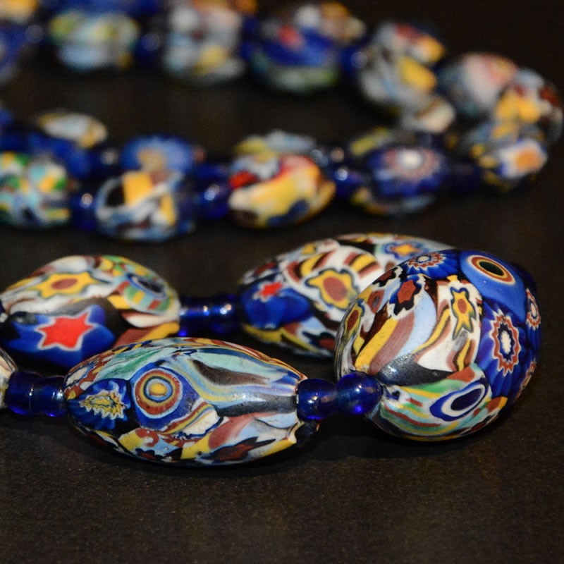 Mystically Tribal Art And Jewellery Antique Venetian Glass Bead Necklace Stone