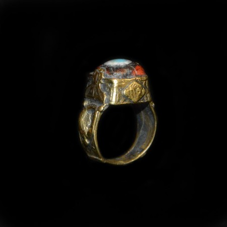 Antique Islamic Eye Glass Brass Ring