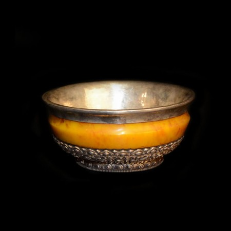 Tibetan Silver Resin Offering Bowl