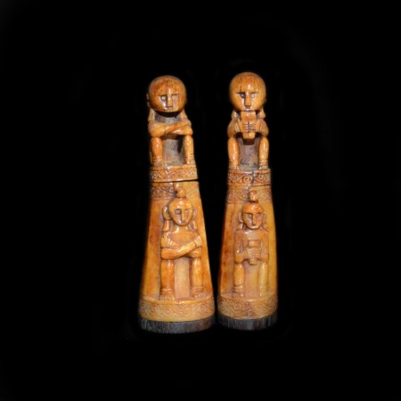 Pair of antique Timor Ancestor Statues