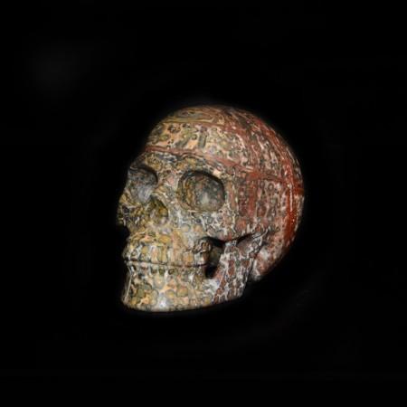 Leopard Jasper Stone Skull