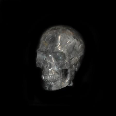 Smoky Rock Crystal Skull