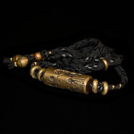 Brass seal choker necklace