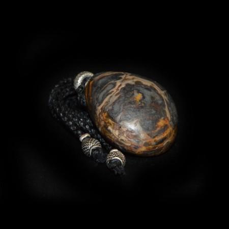 Rainflower Agate Pebble Talisman Necklace