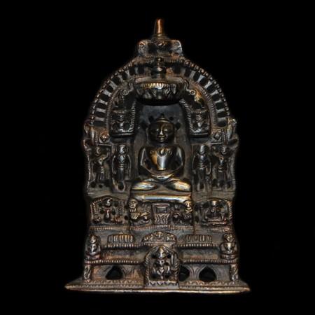 Small black Jain Buddha Statue