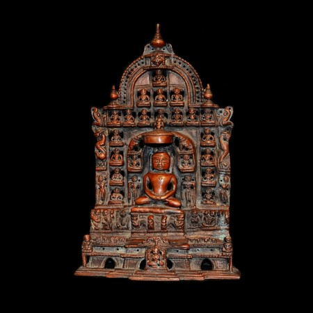 Antique Jain Copper Statue