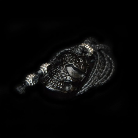 Black Jade Spiderman Skull Amulet Talisman Necklace
