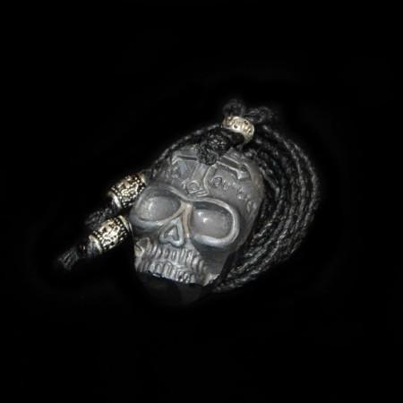 Hematite Skull Amulet Talisman