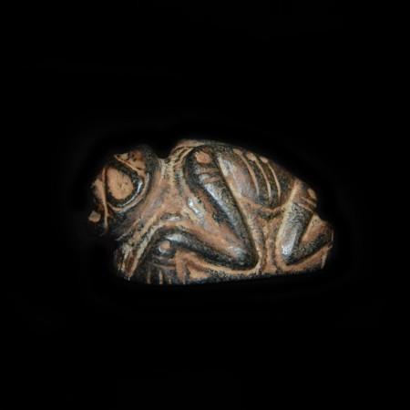 Ancient Precolumbian Taino Frog Person Statue