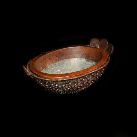 Bronze Rock Crystal Kapala Offering Bowl