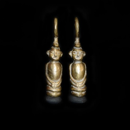 Antique Dayak Tribe Brass Ear Weight