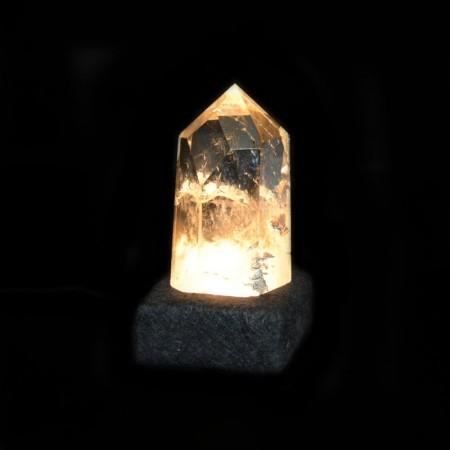 Polished Rock Crystal LED Light