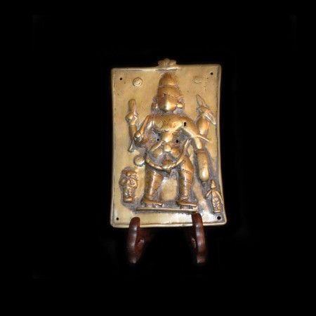 Antique Hindu God Brass Plate
