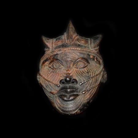 Benin Oba Bronze Mask