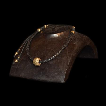 Antique Brass Ring Choker