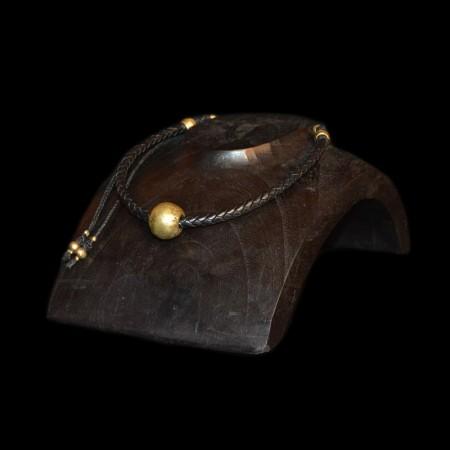 Large brass bead Choker