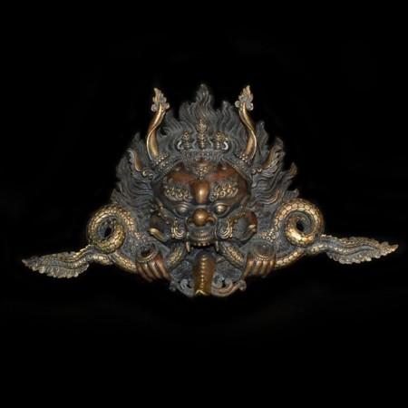 Garuda Bronze Brass Metal Wall Hanging Mask
