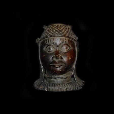 Benin Oba Bronze Head
