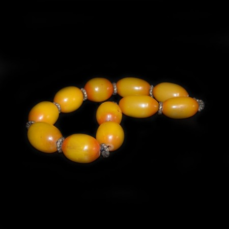 Simulated Butterscotch Amber Beads