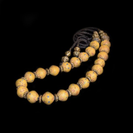 Antique Venetian King Glass Bead Necklace