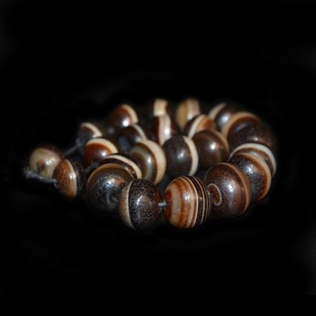 Strand of Bhaisajyaguru Agate Beads