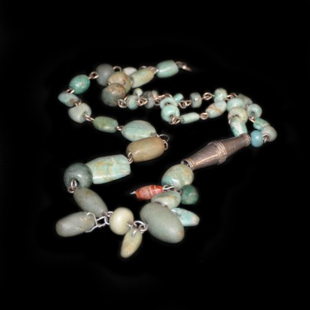 Ancient Amazonite Silver Necklace