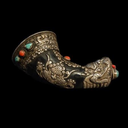 Tibetan Yak Horn Container