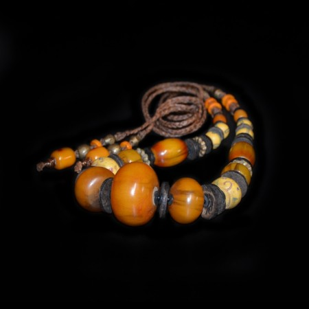 Simulated Amber & Venetian Glass Bead Jewelry