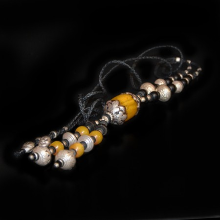 Pendulum Jewelry with antique simulated Amber bead