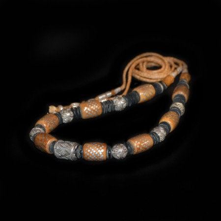 Kuka Silver Bead Necklace