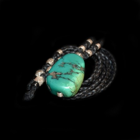 Antique Tibetan Turquoise Silver Talisman