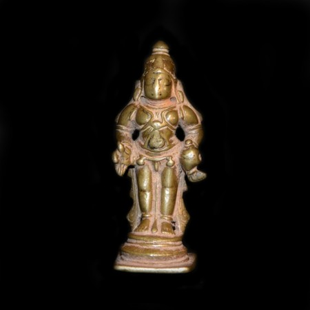Antique Brass Vishnu