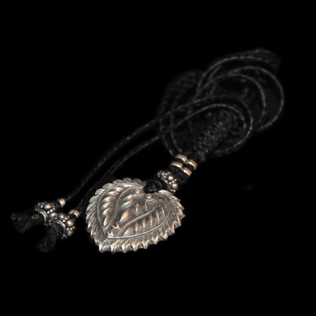 Heart silver amulet