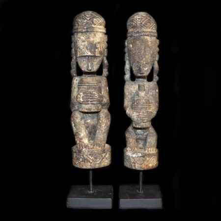 Pair of Timor Tribal Wood Statues