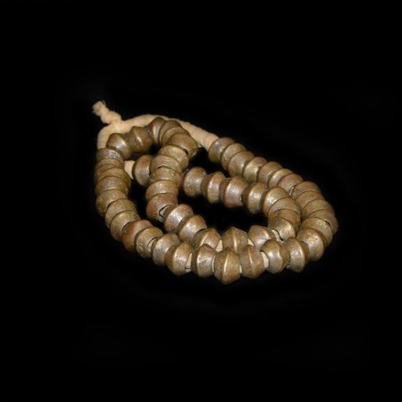 Antique African Brass Bicone Beads