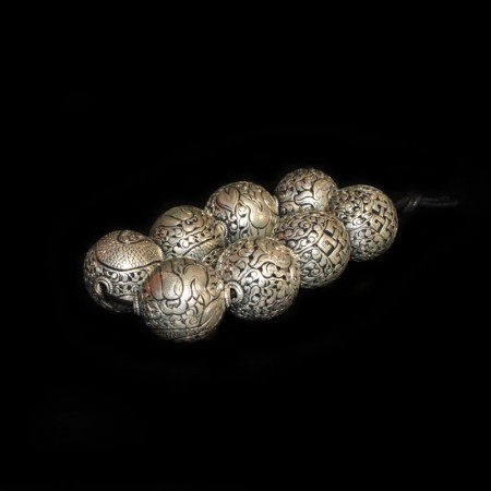 Large Silver Beads