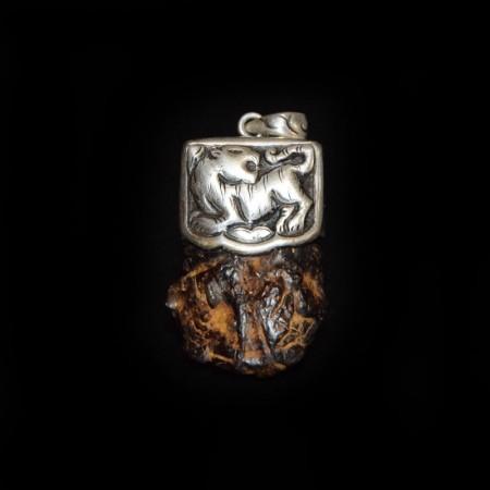 Meteorite Stone Silver Pendant