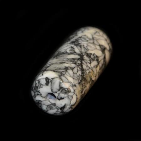 Pinolith Fossil Jasper Tube Bead