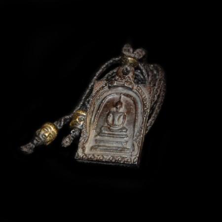 Old vintage Thai Bronze Buddha Amulet