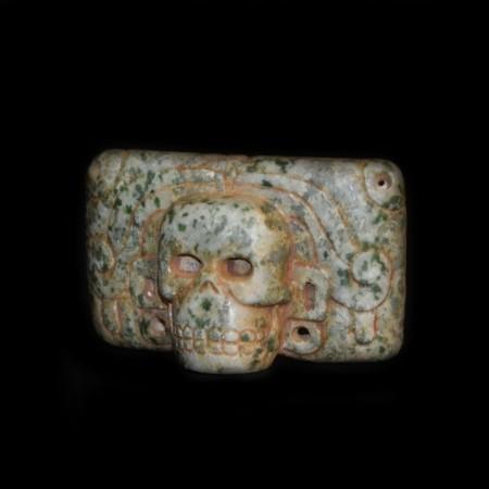 Pre-Columbian Skull Jadeite Mask Bead
