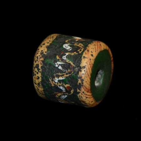 Green islamic tube glass bead