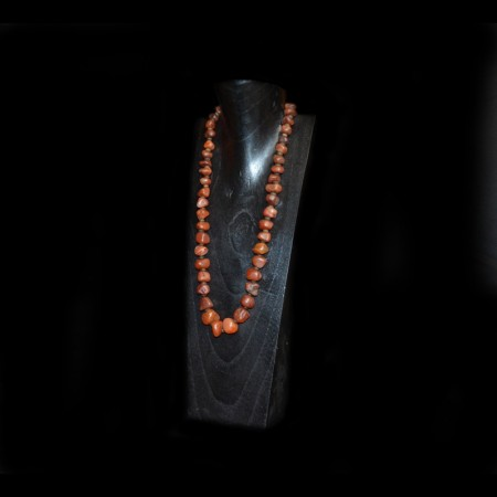 Antique Carnelian Bead Necklace