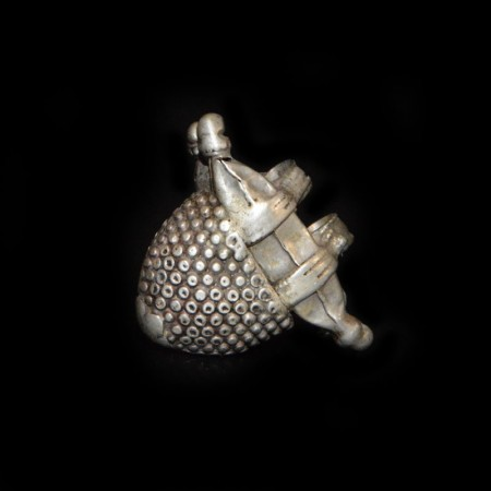 Antique Tribal Silver Amulet from India