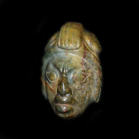 Vintage Jadeite Mask from Mexico