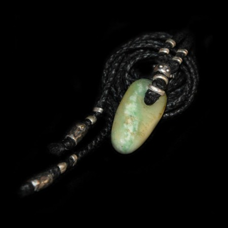 Small perfect ancient Amazonite Tooth Talisman