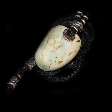 Ancient white-blue Amazonite Talisman
