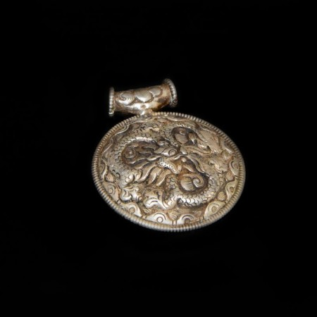 Old Dragon Silver Amulet