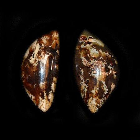 Two Indonesian Amber Cabochons