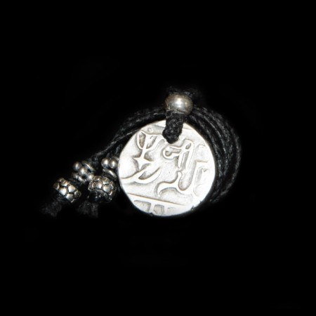 Ancient Mughal Silver Rupee Lucky Coin Necklace